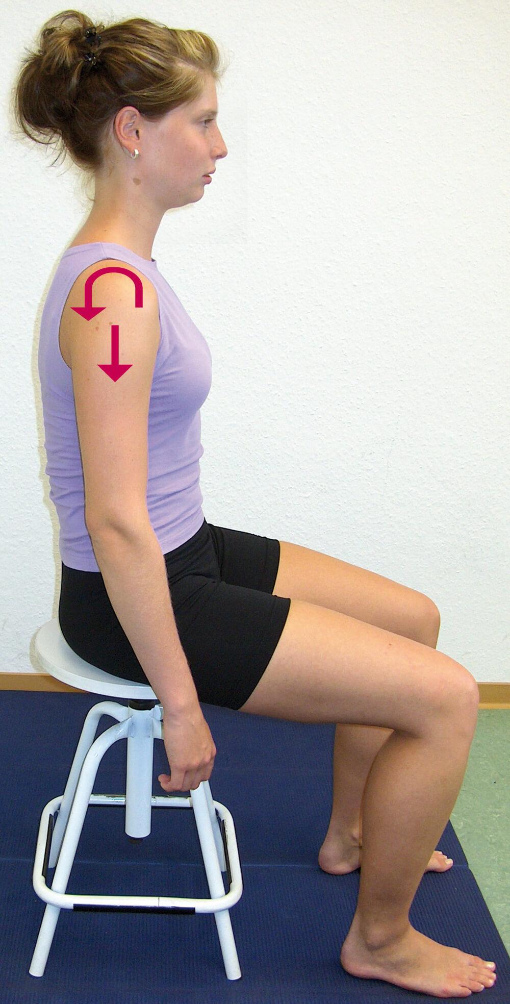 Schulter vorn-oben-innen (Fehlstellung)