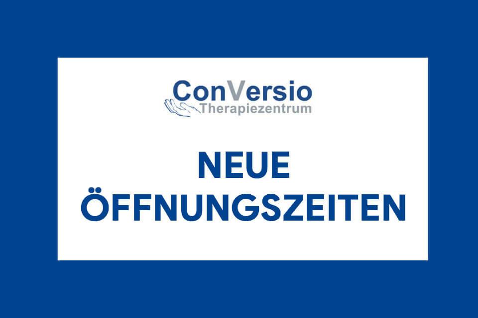 Neue Öffnungszeiten ConVersio Therapiezentrum Dresden Neustadt
